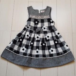Souris - スーリー ブロックチェック ジャンパースカート 120cm