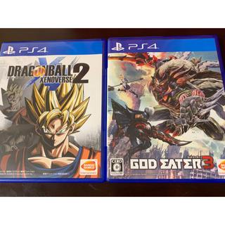 プレイステーション4(PlayStation4)のドラゴンボール ゼノバース2 PS4 GOD EATER3 PS4 まとめ売り(家庭用ゲームソフト)