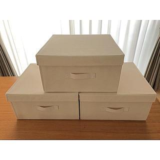 MUJI (無印良品) - 無印良品の布貼組立式収納ボックス 3個セット