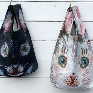 H.P.FRANCE - 【お取り置き】Nathalie Lete/ウサギのゴブラン織りお買い物バッグ新品