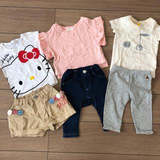 エフオーキッズ(F.O.KIDS)の女の子 ベビー 夏物 セット(Tシャツ)