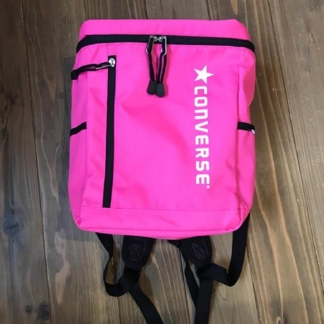 CONVERSE(コンバース)の値下げ💴CONVERSE コンバース キッズ リュック リュックサック ピンク キッズ/ベビー/マタニティのこども用バッグ(リュックサック)の商品写真
