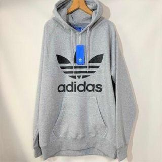 adidas - アディダス パーカー adidas トレフォイル パーカー 灰色 L