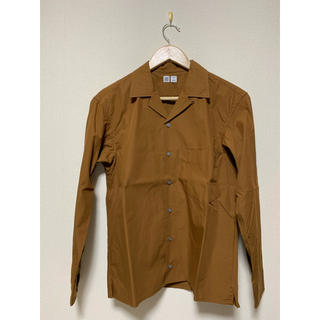 UNIQLO - ユニクロ ユー UNIQLO U オープンカラーシャツ ブラウン