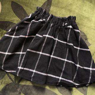 アベイル(Avail)のチェックスカート ウールスカート ミニスカート 膝丈スカート アベイル 黒(ミニスカート)