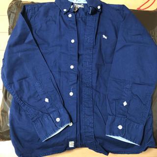 エイチアンドエム(H&M)のH&M ボタンダウンシャツ130cm 美品(ブラウス)