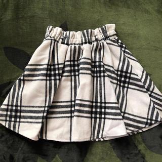 アベイル(Avail)のチェックスカート ミニスカート 膝丈スカート ウールスカート 白 黒 アベイル(ミニスカート)