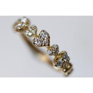 セイレーンアズーロ K18 コルディアーレ ダイヤモンド リング 11号(リング(指輪))