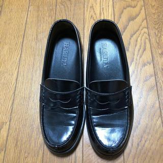 ハルタ(HARUTA)のHARUTA ハルタ ローファー 黒 24.5EEE(ローファー/革靴)