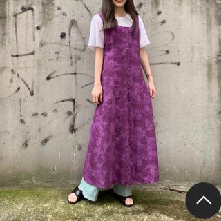 Kastane - カスタネ  ムラ染花柄前釦ワンピ