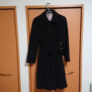 エフデ(ef-de)の送料込み☆エフデ ef-de 日本製アンゴラ混コート ベルト二種類(ロングコート)