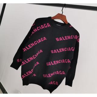 バレンシアガ(Balenciaga)のBalenciagaロゴ ニットセーターXS(ニット/セーター)
