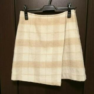 マーキュリーデュオ(MERCURYDUO)のマーキュリーデュオ シャギーチェックラップスカート(ミニスカート)