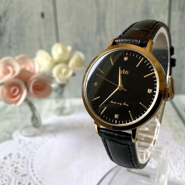 ete - 【電池交換済み】ete エテ 腕時計 ボーイフレンド 4石の通販