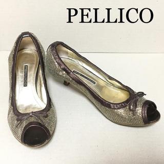 ペリーコ(PELLICO)の【ペリーコ:PELLICO】グリッター ブロンズ色パンプス 36 / 23.0(ハイヒール/パンプス)
