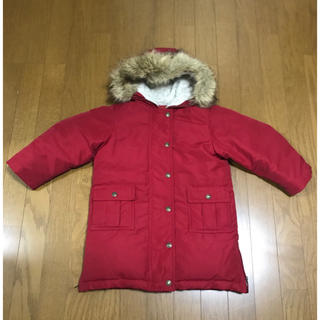 ラルフローレン(Ralph Lauren)のラルフローレン 赤 暖かい ダウンコート 男の子 女の子 110(コート)