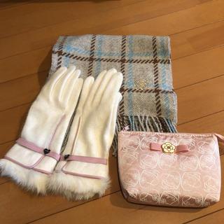 CLATHAS - クレイサス  新品 マフラー、手袋、ポーチ