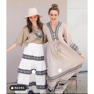 アリシアスタン(ALEXIA STAM)のALEXASTAM Embroidered Long Sleeve dress(ロングワンピース/マキシワンピース)