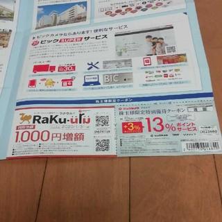 ビックカメラ株主限定クーポン(ショッピング)