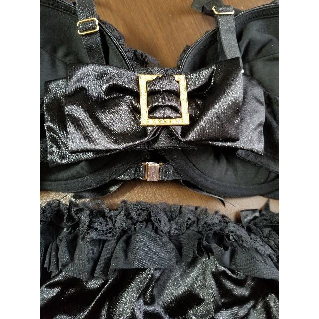 aimer feel(エメフィール)のaimerfeel リボン ブラ&ショーツ レディースの下着/アンダーウェア(ブラ&ショーツセット)の商品写真