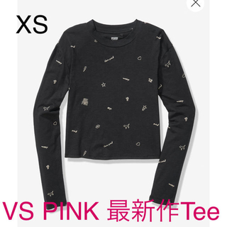 ヴィクトリアズシークレット(Victoria's Secret)の最新作❤︎VS PINK XSサイズ❤︎長袖Tee 新品未使用(Tシャツ(長袖/七分))