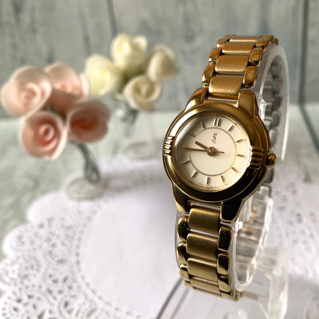 Saint Laurent - 【美品】Yves Saint Laurent 腕時計 ラウンド ゴールドの通販