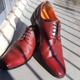 革靴 ビジネスシューズ 赤(ドレス/ビジネス)