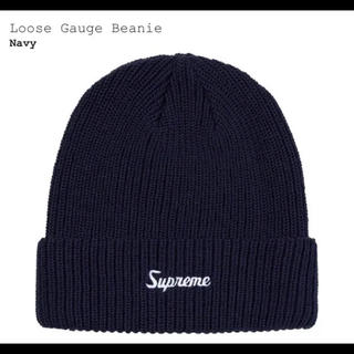 Supreme - シュプリーム  ニット帽 ビーニー  ネイビー supreme