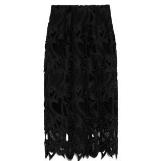 フレイアイディー(FRAY I.D)のCELFORD ハートレーススカート(ひざ丈スカート)