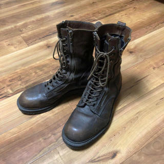 ユリウス(JULIUS)のJULIUS  W SIDE ZIP MILITARY BOOTS(BRAUN)(ブーツ)