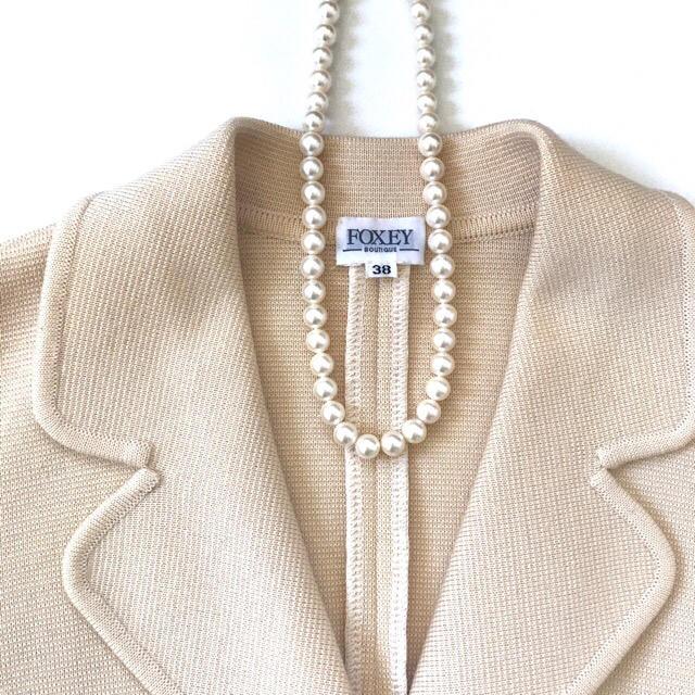 FOXEY(フォクシー)の★フォクシー★ ウールジャケット アイボリーベージュ レディースのジャケット/アウター(テーラードジャケット)の商品写真