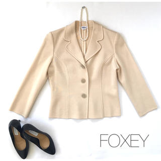 FOXEY - ★フォクシー★ ウールジャケット アイボリーベージュ