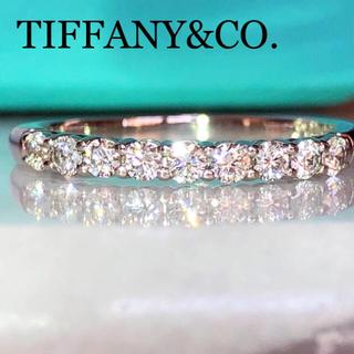Tiffany & Co. - ティファニー エンブレイス  シェアドプロング プラチナ ダイヤ リング
