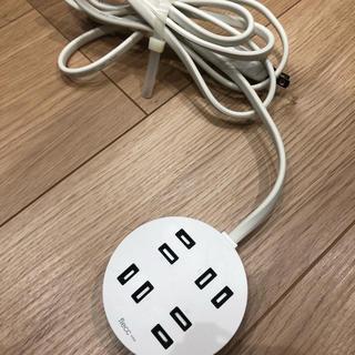 エレコム(ELECOM)のエレコム 電源タップ ホコリシャッター付 耐熱素材使用 flecc orbe(変圧器/アダプター)