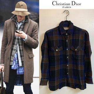 クリスチャンディオール(Christian Dior)のChristian Dior PARIS VINTAGE チェックネルシャツ(シャツ)