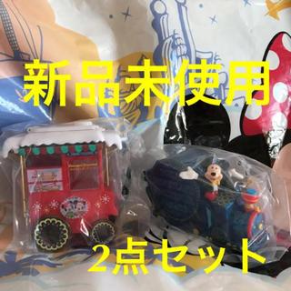 ディズニー(Disney)の新品未使用★ディズニー  クリスマス ミッキー スーベニア スナックケース 2点(キャラクターグッズ)