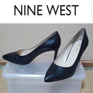 ナインウエスト(NINE WEST)の美品  24.5~25cm  ナインウエスト ヒール ポインテッドトゥ パンプス(ハイヒール/パンプス)
