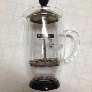 ハリオ(HARIO)のハリオ 二重グラスカフェプレッソ CPW-4 保温性のあるプレス式コーヒーポット(その他)