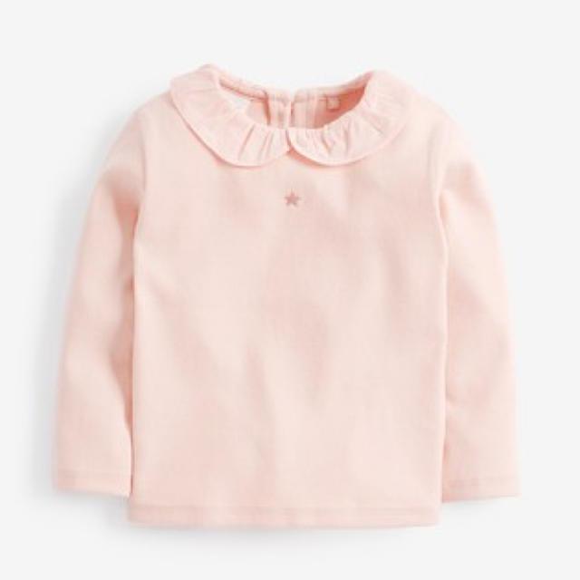 NEXT(ネクスト)の新品!ネクスト 襟付き カットソー  ピンク キッズ/ベビー/マタニティのベビー服(~85cm)(シャツ/カットソー)の商品写真