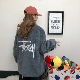 STUSSY - STUSSY タグ付き オリジナルス ボアフリースジャケット