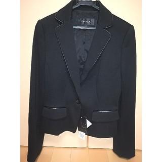 エポカ(EPOCA)のエポカ ジャケット 黒42 新品タグ付き6万6150円(テーラードジャケット)