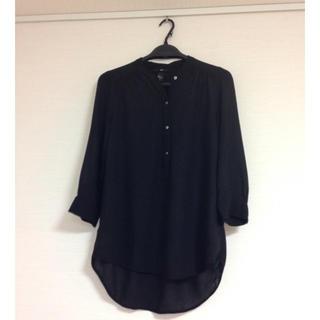 エイチアンドエム(H&M)のブラウス 七分袖 黒 H&M(シャツ/ブラウス(長袖/七分))