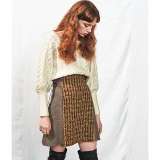 リリーブラウン(Lily Brown)のlilybrown サイドレースアップ台形スカート (ブラウン)(ミニスカート)