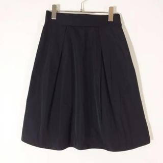 バーニーズニューヨーク(BARNEYS NEW YORK)のバーニーズニューヨーク プリーツスカート ブラック サイズ38(ひざ丈スカート)