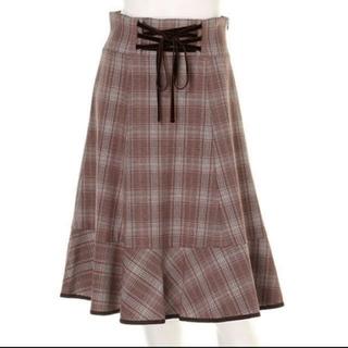 アプワイザーリッシェ(Apuweiser-riche)のアプワイザーリッシェ☆レースアップスカート(ひざ丈スカート)