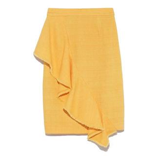 リリーブラウン(Lily Brown)のラッフルミディスカート(ひざ丈スカート)