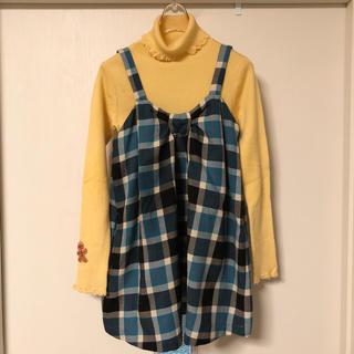 シャーリーテンプル(Shirley Temple)の冬物 タートルネック&チュニックセット サイズ130(ニット)