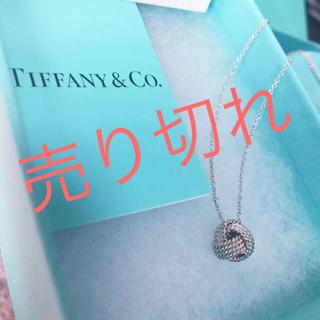 Tiffany & Co. - ティファニー♡メッシュボールネックレス♡付属品付き!美品!正規品!!