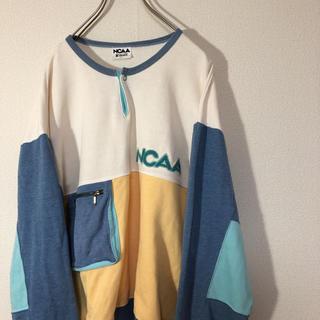デサント(DESCENTE)のNCAA スウェット トレーナー ワッペン ロゴ ポケット デサント 古着(トレーナー/スウェット)