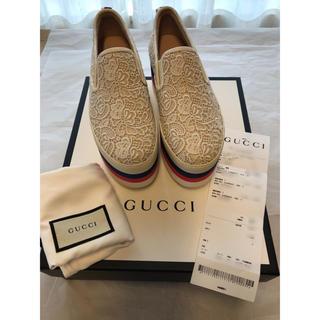 Gucci - 24.5㎝スリッポンスニーカー新品未使用